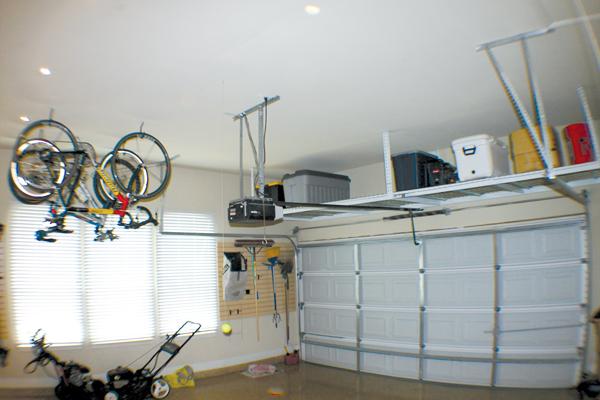 diy garage ceiling storage racks - Hanging Garage Storage